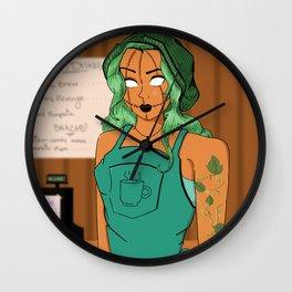 Pumpkin Spice Barista Wall Clock