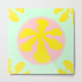 Pop Pink and Lime 01 Metal Print