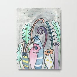 quirky vases Metal Print