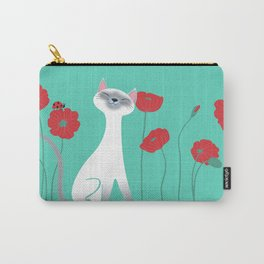 Siamese & Poppies Carry-All Pouch