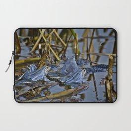 Blue Frogs 11 - Rana arvalis Laptop Sleeve