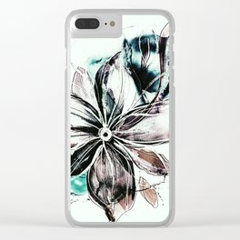 b floral Clear iPhone Case