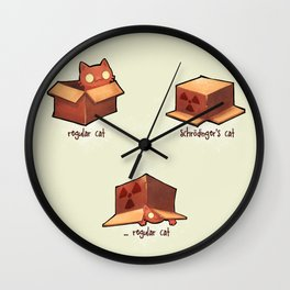 Schrödinger's cat Wall Clock