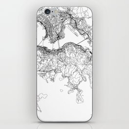 Hong Kong White Map iPhone Skin