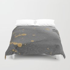 Gray and gold Duvet Cover