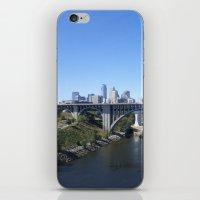 minneapolis iPhone & iPod Skins featuring Minneapolis by SaltyDesigns