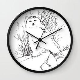 Snow Owl - M Wall Clock