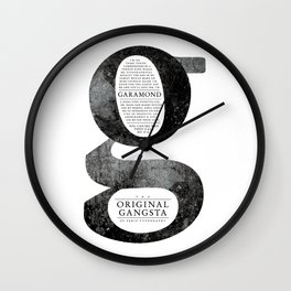 O.G. Garamond Wall Clock
