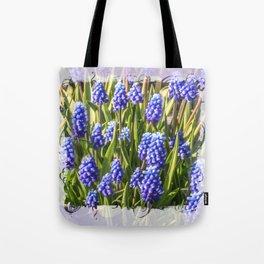 Grape hyacinths muscari Tote Bag