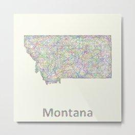 Montana map Metal Print