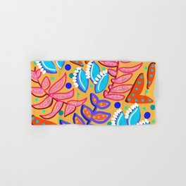 Whimsical Leaves Pattern Hand & Bath Towel
