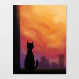 Woke up late Canvas Print