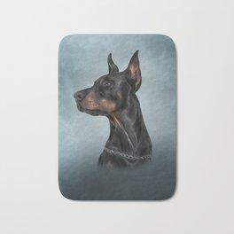 Drawing Doberman dog  6 Bath Mat