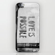 Love is possible - Berlin stencil iPhone & iPod Skin