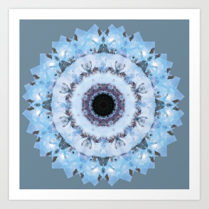 Tropical Blue Sky Mandala Art Print