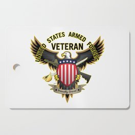United States Armed Forces Military Veteran - Proudly Served Cutting Board