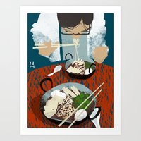 ramen Art Prints featuring Ramen by Noah MacMillan