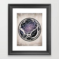 The Rose Medallion Framed Art Print