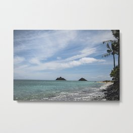 Lanikai Beach, Kailua, Oahu, Hawaii Metal Print
