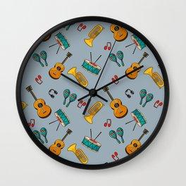 Musical cinza Wall Clock