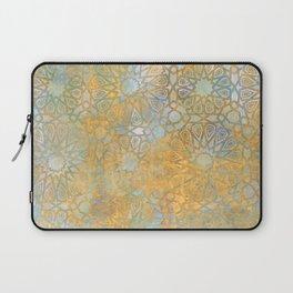 gold arabesque vintage geometric pattern Laptop Sleeve
