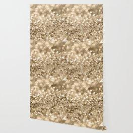 Champagne Gold Lady Glitter #2 #shiny #decor #art #society6 Wallpaper
