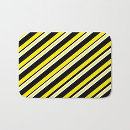 TEAM COLORS 1...double yellow,black and white. Bath Mat