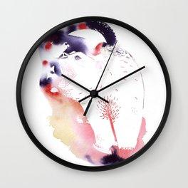 Polar Bear Love Print Wall Clock