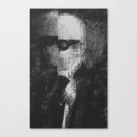 karl lagerfeld Canvas Prints featuring Karl Lagerfeld Star Futurism Limited by Futurism_