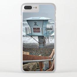 Lifeguard Tower 2, Torrey Pines, La Jolla, California Clear iPhone Case