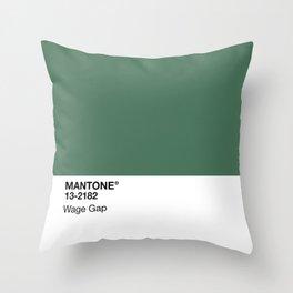 MANTONE® Wage Gap Throw Pillow