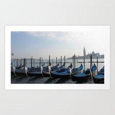 Silent Boats Art Print
