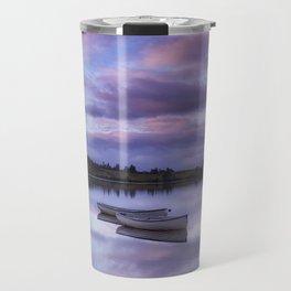 Purple Boats Travel Mug