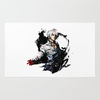 foo fighters Area & Throw Rugs featuring King of Fighters K by Prince Of Darkness