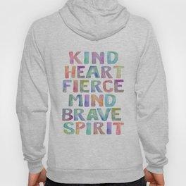 Kind Heart Fierce Mind Brave Spirit Printable Tribal Nursery Quote Girl Tribal Decor Tribal Wreath Hoody