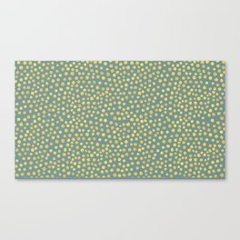 DOT PATTERN - blue and gold Canvas Print