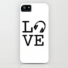 Headphone LOVE iPhone Case