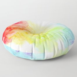 Study in Rainbow Floor Pillow