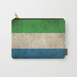 Old and Worn Distressed Vintage Flag of Sierra Leone Carry-All Pouch