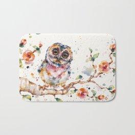 Yep, Cute Is My Middle Name (Owl) Bath Mat