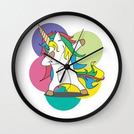 Unicorn Dabbing Dabber Magical Creatures Magic Fantasy Rainbow Fairytale Myth Horse Lovers Gift Wall Clock