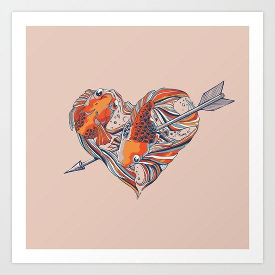 Form of Love Art Print