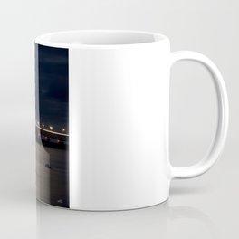 Mackinac Bridge at night Coffee Mug
