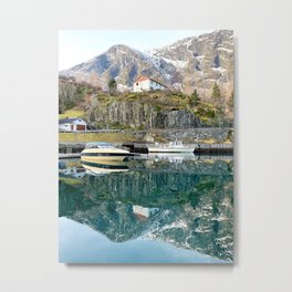 Reflection from Flam Village Metal Print
