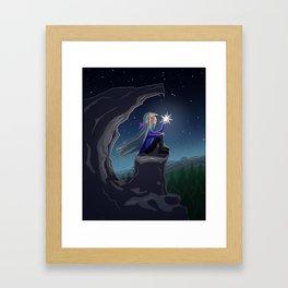 Girl who Stole a Star Framed Art Print