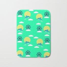 Dolphins play Bath Mat