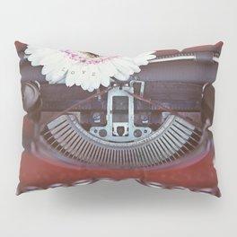 Message of Love Typewriter Pillow Sham