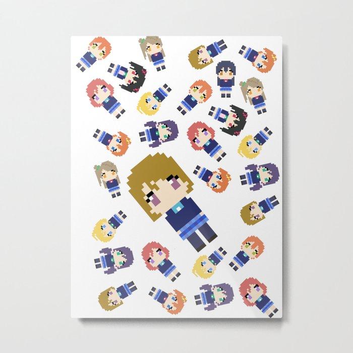 Pixel Hanayo Metal Print