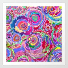 Flower carpet 85 Art Print