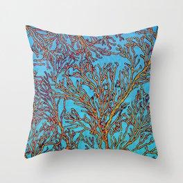 Coral Orange Throw Pillow